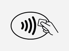 Symbol für Kontaktloses Bezahlen